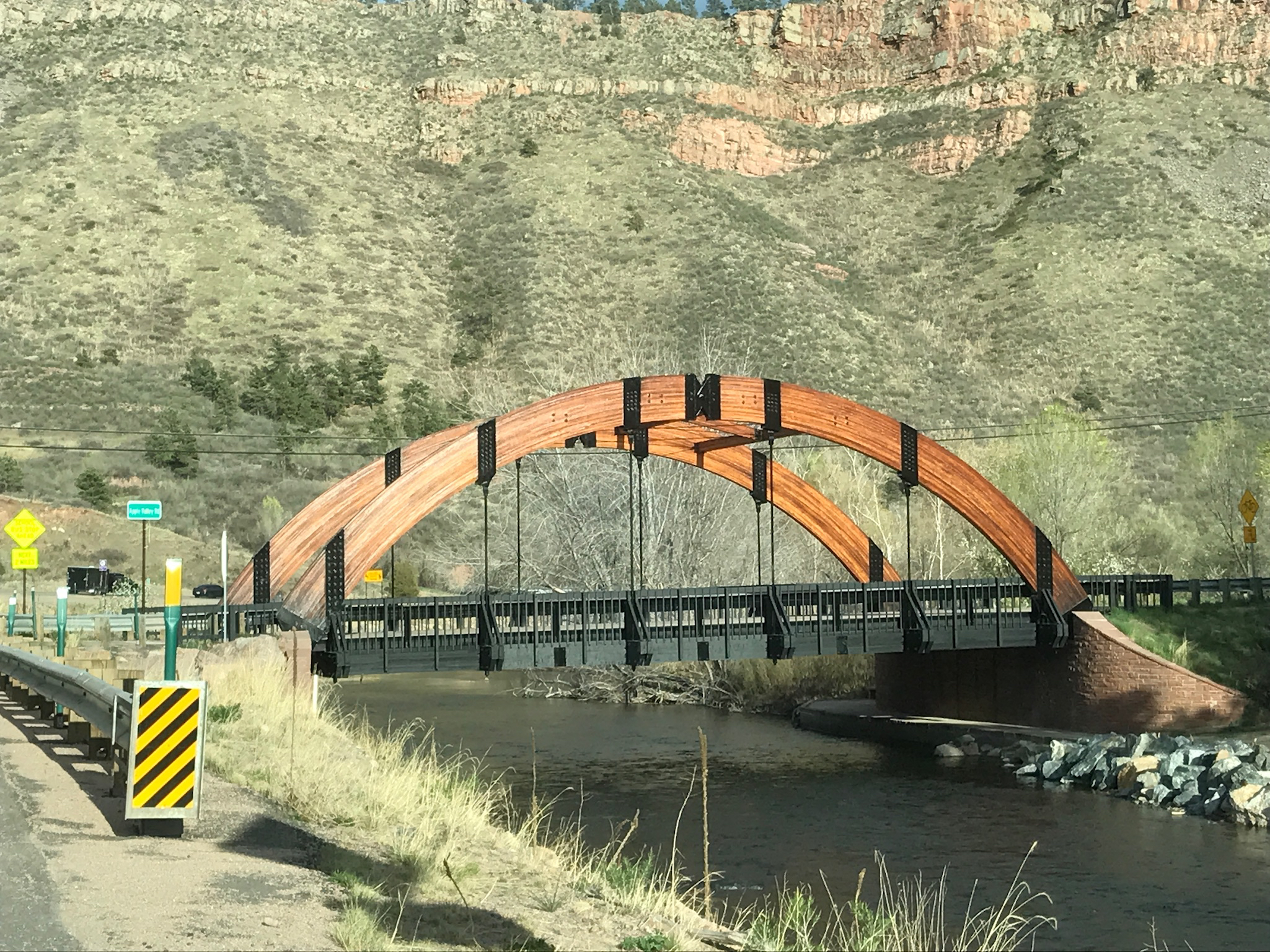 A cool looking bridge we took a picture of for our civil engineer friend